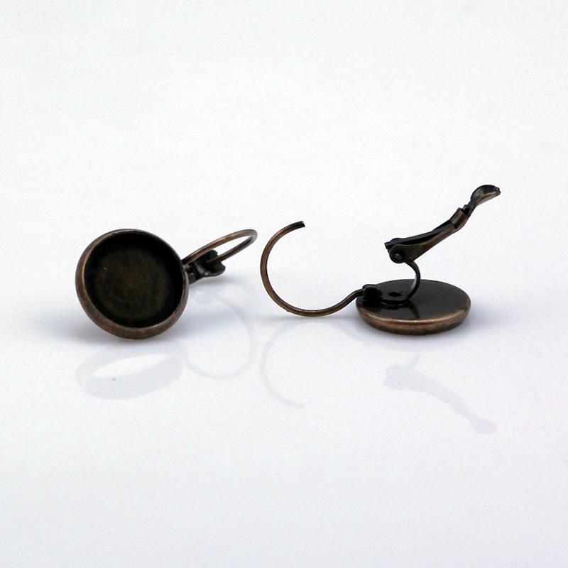 Beadsnice Mosiądz kolczyk Pusteczki na Twoją biżuterię Podstawę kolczyk z 12mm Okrągłe Ustawienie bezołowiowe bezołowiowe ID1951