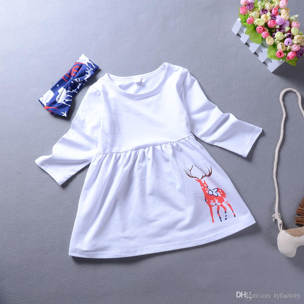 Preppy baby girl clothes outfit long sleeve top + pants+headband lovely girls kid clothing boutique dress suit cute reindeer toddler 2-7T