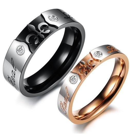 Online Cheap Vintage Engagement Rings For Men And Women Casual Black Gold Steel Ring Set His Hers Promise Sets Luxury Wedding Bands By Juliechung