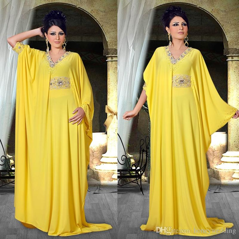 دبي نمط vestidos الخامس عنق طويل الأكمام الماس مطرز أنيقة العربية ثياب السهرة مسلم زائد الحجم حفلة موسيقية قفطان للنساء السهرة الرسمية