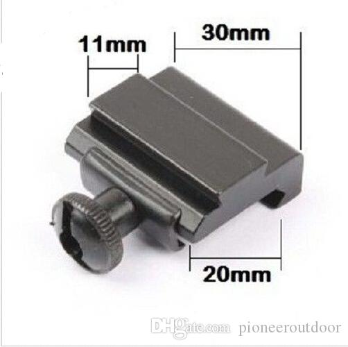 """Tactical Machined Aluminum QD Quick Detach Weaver - Picatinny 7/8"""" To Dovetail 3/8"""" 11mm Rail Adapter Mount"""