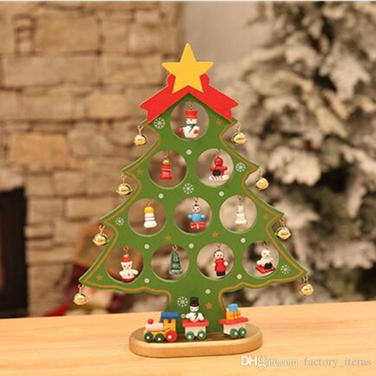 Diy Wooden Christmas Ornament Mini Christmas Gift Tree Decoration
