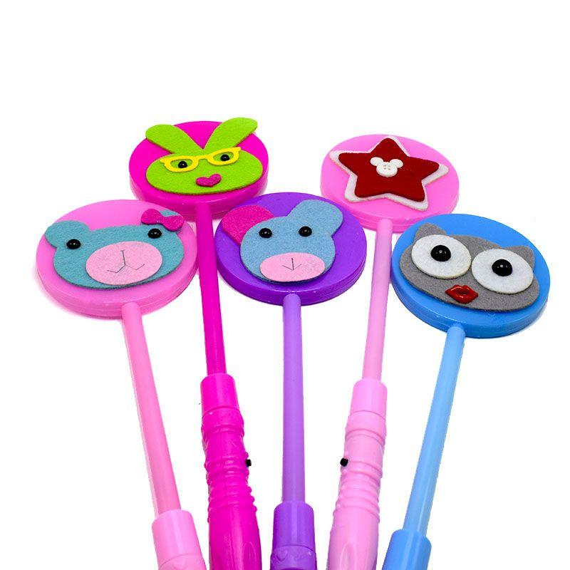 Flash Led Light Sticks For Christmas Gifts Lovely Animal Flashing Wand Girl Children Gift Light Party Decration toys