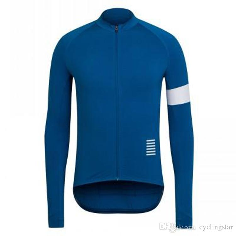Hot New autumn cycling clothing Long Sleeves Rapha Cycling Jerseys racing bicycle Shirt Comfortable Breathable Bike Wear L0701