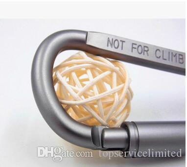 envío gratis Aleación de aluminio en forma de D mosquetón de bloqueo Snap gancho llavero actividades al aire libre