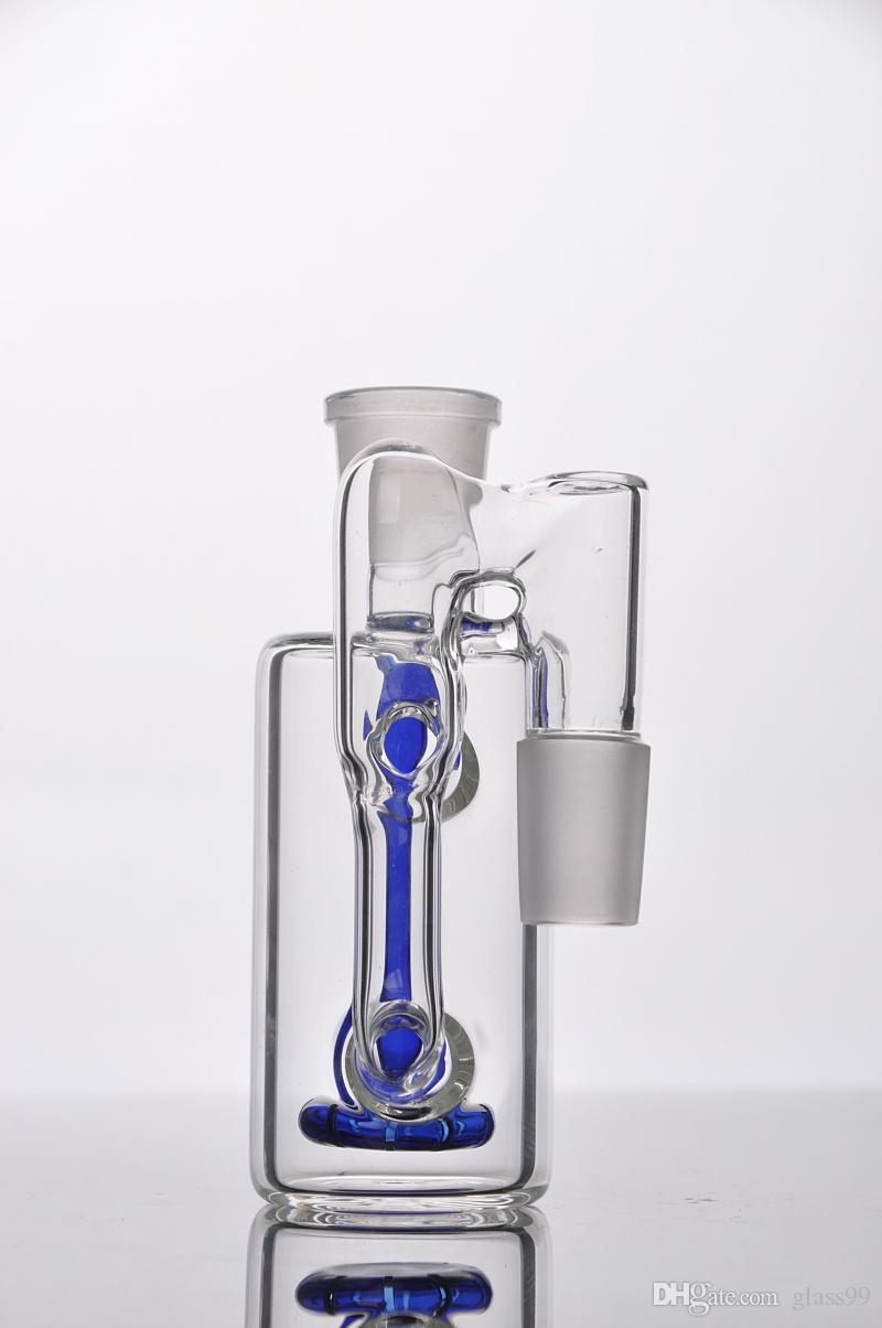 spedizione gratuita 2016 Soffione Posacenere con Riciclatore d'acqua 18,8 mm ad angolo retto bong di vetro acqua