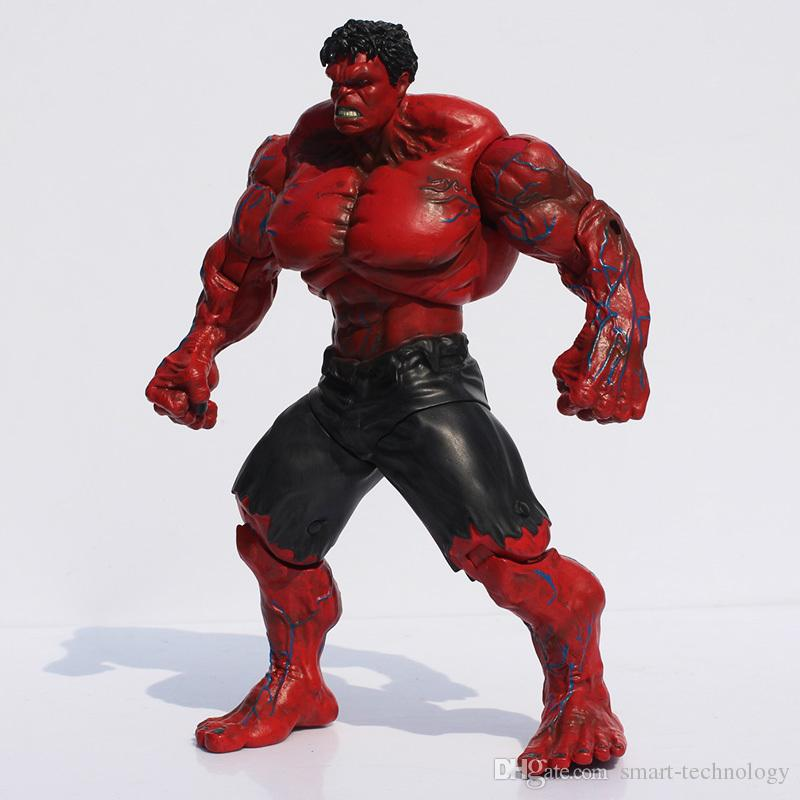 "Red Hulk Action Figure The Avengers 10"" PVC Figure Toy Hands Adjusted Movie Lovers Collection"