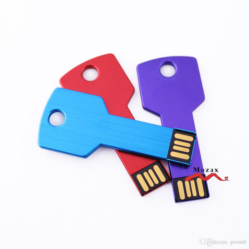 Бесплатные настройки логотипов Graving 128MB / 256MB / 512MB / 1GB / 2GB / 4GB / 8GB / 16GB Metal клавиша USB флэш-накопитель 2.0 Memory Flash Pendrive Stick