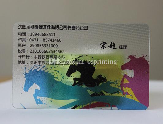 Индивидуальные ясно ПВХ визитная карточка / прозрачный пластик визитная карточка / ясно визитная карточка