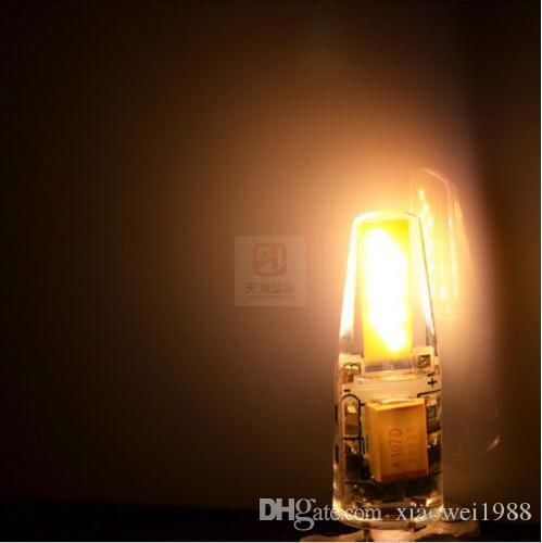 Dimmable G4 LED 12V AC/DC COB Light 3W 6W High Quality LED G4 COB Lamp Bulb
