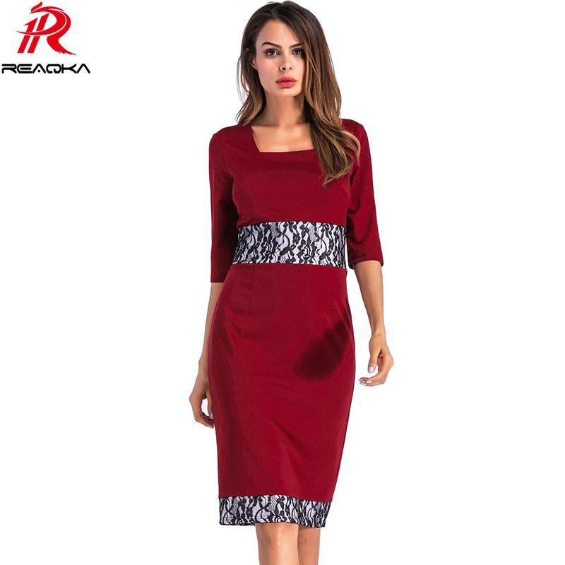 534fb54aac Vintage Ladylike Sexy Fashion Plus Size Office Lady Dress Square ...
