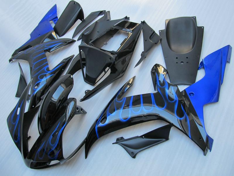 Carenados de las llamas azules para YAMAHA R1 2002 2003 Kits de cuerpo moldeado por inyección YZF1000 02 03 yzf r1 kit de carenado conjunto de piezas 4RW1