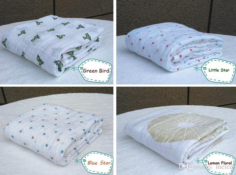 حار بيع عدن أنيس الفراش لحاف للأطفال الوليد لوازم 100٪ الشاش القطن الطفل تلقي البطانيات cobertor infantil لينة الطفل التفاف