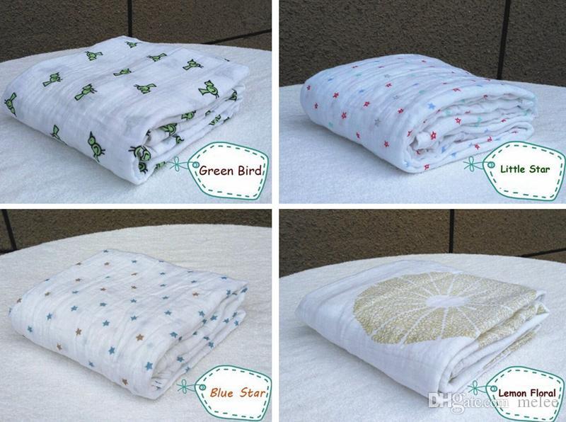 Vendita calda Aden Anais Bedding Trapunte neonati Neonato forniture 100% cotone mussola Bambino che riceve coperte Cobertor Infantil Soft Baby Wrap