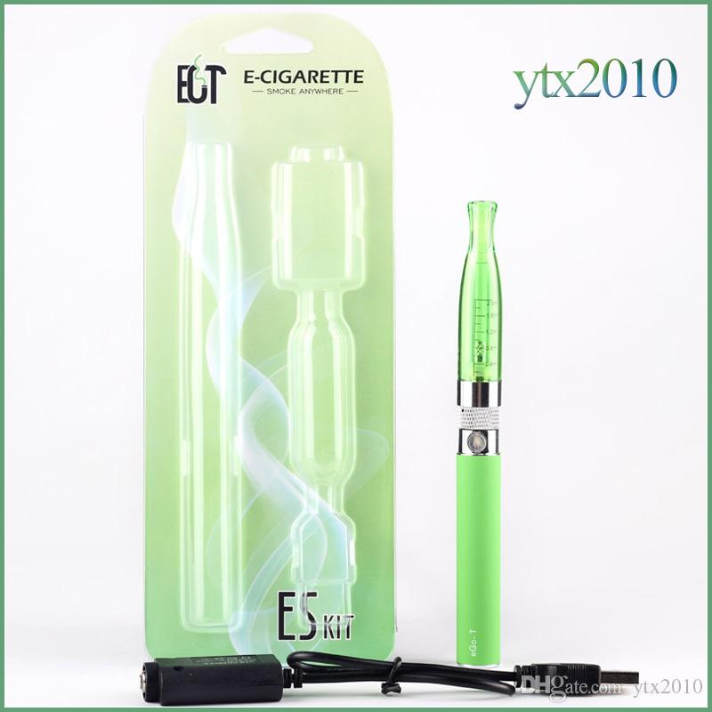 Electronic Cigarette GS H2 atomizer with Ego T Battery Starter Kit E Cigarette 2.0 ml Atomizer 650/900/1100 mah EGO Battery