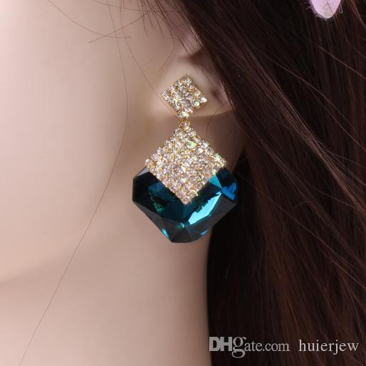 Bohemian Earrings for Woman Girl Jewelry Brand Design Ear Cuffing Statement Fashion Jewelry New Korean Earring Studs Pack Crystal Earrings