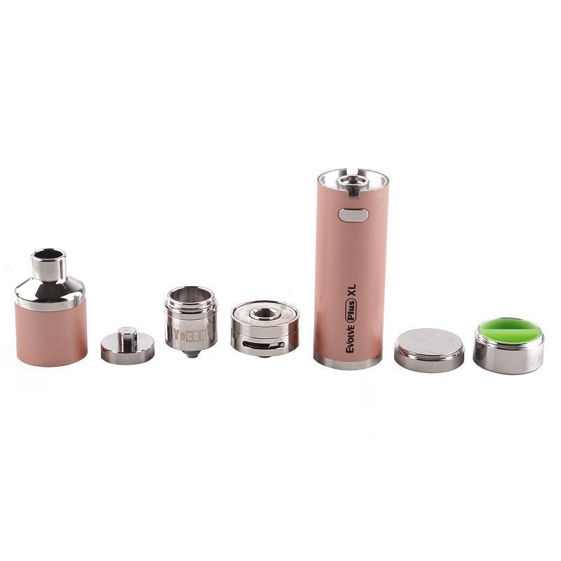 Original Yocan Evolve Plus XL Wax Vape Pen Cigarette 1400amh battery Quad Quartz Rod Coil Evolve Plus XL Atomizer with Silicon Jar