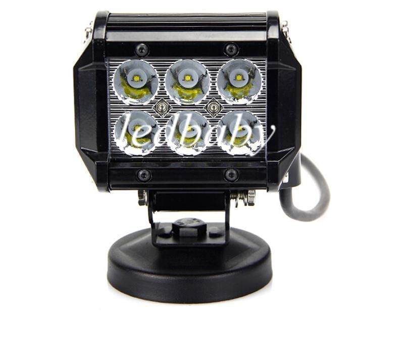 50% 18W Cree LED Work Light Bar Lamp Motorcycle Tractor Boat OffRoad 4WD 4x4 Motor Truck SUV ATV Spot Flood Beam 12v 24v