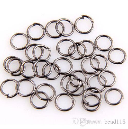 Caliente ! saltan el anillo, los conectores abiertos de los anillos del salto platearon la plata / el oro etc. 5m m