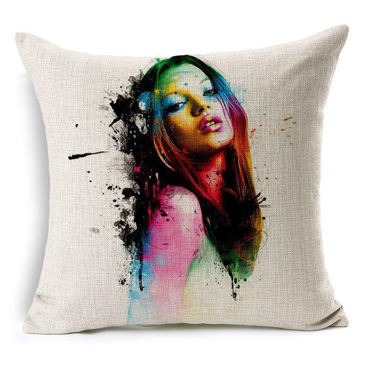 Mooie Sierkussen Case Modern Europa Art Beauty Body Cushion Cover Woondecoratie Linnen Kussenhoes 45cm * 45cm