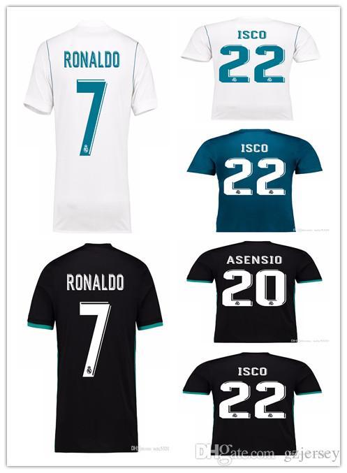 79a085f5902 2019 2018 Champions League Player Version Soccer Jersey 2017 18 Real Madrid  Home Away 3rd Soccer Jerseys 17 18 Ronaldo ISCO Football Jeresy From  Gzjersey