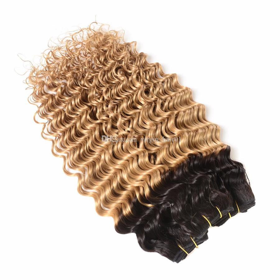 الروسية ريمي الشعر موجة عميقة مع إغلاق أومبير الأسود إلى العسل شقراء الشعر البشري مع 4 * 4 الدانتيل إغلاق 8a الصف العذراء الشعر