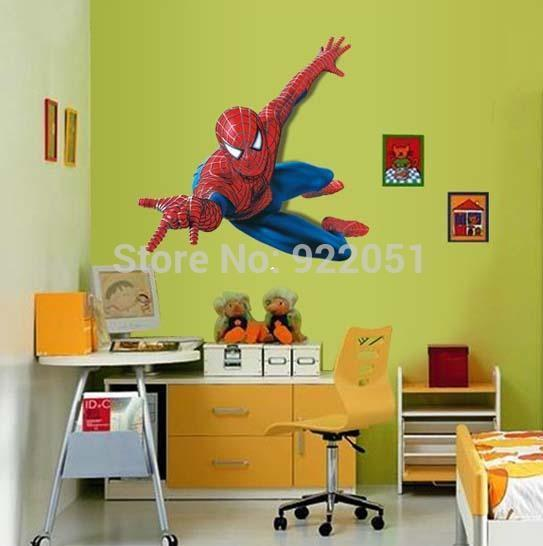 Ay1937 black Eyes Store Extra Large Spiderman Wall Stickers Peel And ...