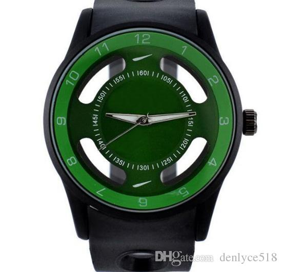 Fashion NI Brand women men's Silicone band quartz wrist watch with logo N06