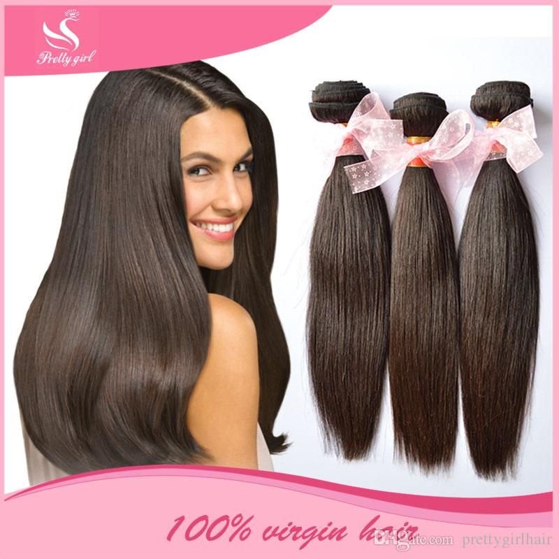 Brazilian Virgin Hair Straight Unprocessed Human Hair Weaves Bundles