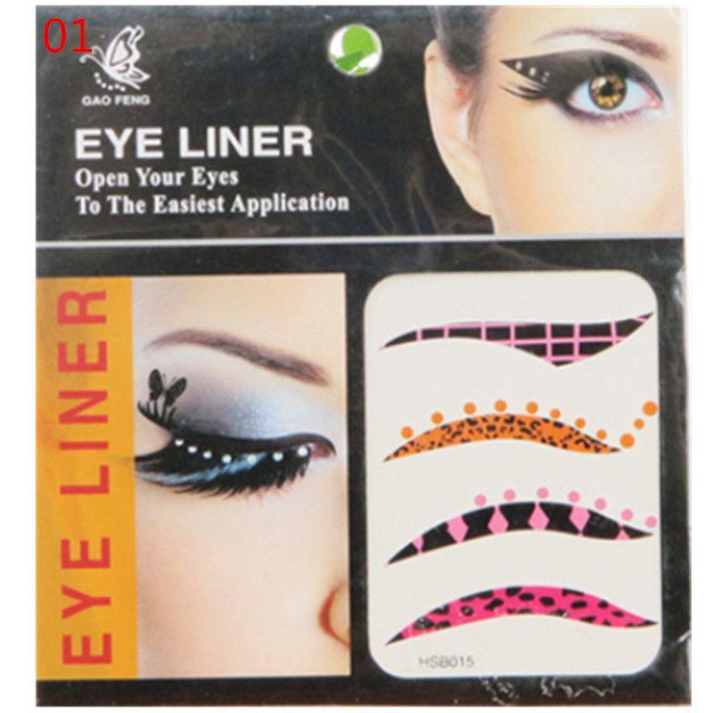 10 Packets de mode Eye Liner autocollants Tatouage application Safe non toxique Envoyer aléatoire
