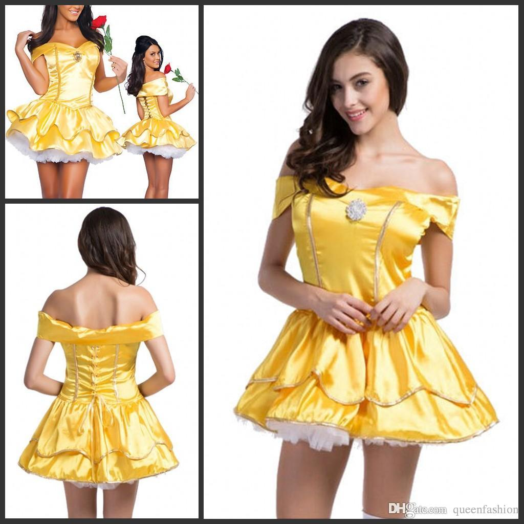 2016 Play Role Dresses Snow White Cosplay Costumes Halloween ...