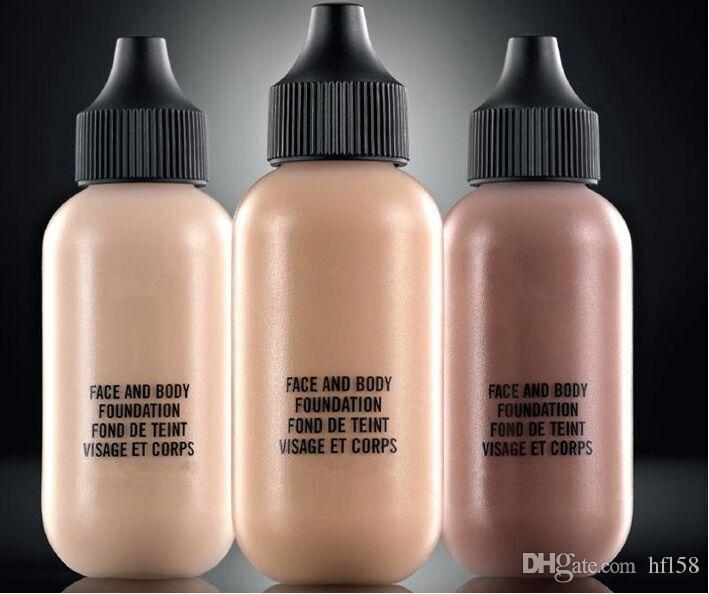 Frete Grátis Atacado Cosméticos Fundação Líquida Nova Maquiagem Rosto E Corpo Fundação Fond De Teint 120 ml 6 Cores pode escolher 6 pçs / lote