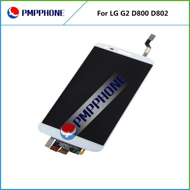 Schwarz farbe Original LCD Für LG G2 D800 D802 F320 LCD Display Touchscreen Digitizer Assembly Ersatz mit ohne Rahmen