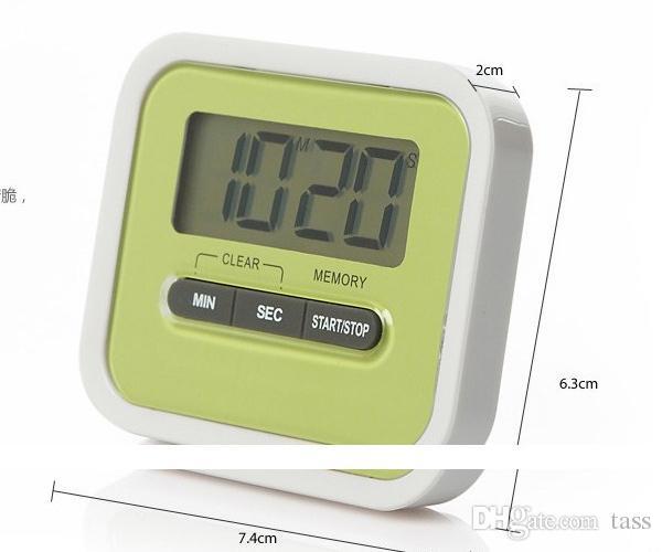 Weihnachtsgeschenk Digital Kitchen Count Down / Up LCD-Display Timer / Wecker mit Magnetständer Clip