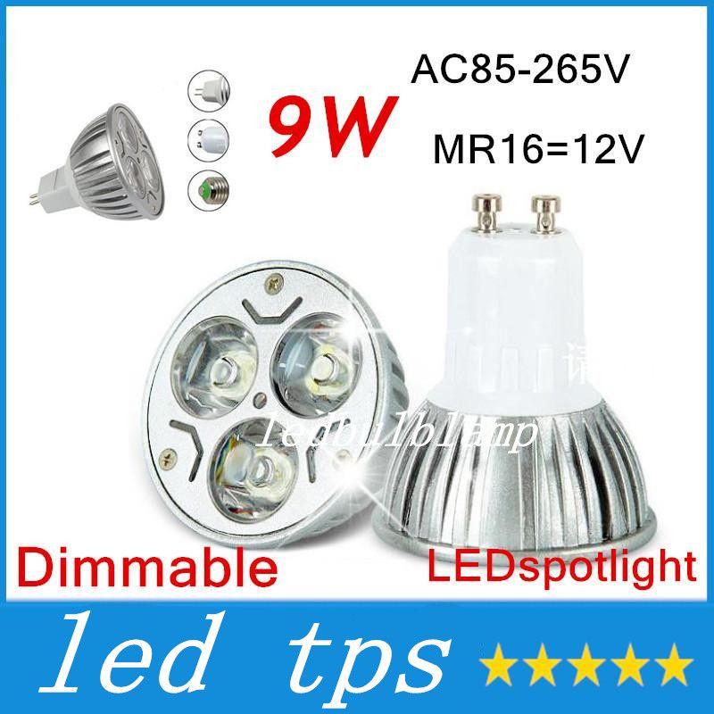 Led Bulbs & Tubes 10pcs New High Power Cree Mr16 Gu10 6w 9w 12w Led Cob Spotlight Lamp Bulb Warm Cool White 85-265v Ce Rohs
