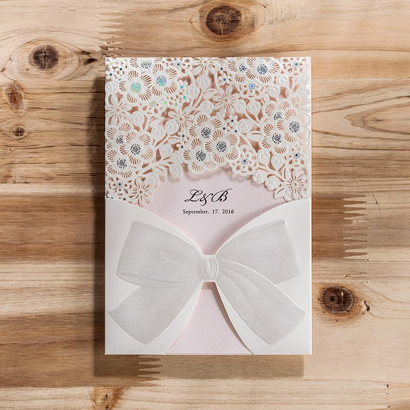 New Printable Personlized Wedding Invitation Cards Lace Flowers ...