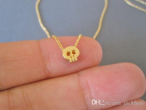 - B043 Tiny Sugar Skull Bracelet Cute Skeleton Bracelet Simple Animal Skull Face Head Bracelets for women