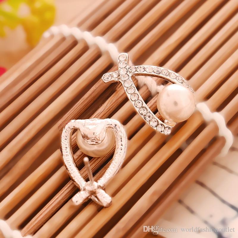 Серьги-гвоздики Fashion Gold Crystal Серьги-гвоздики Brincos Perle Pendientes Bou Жемчужные серьги для женщин с полностью украшенными жемчужными серьгами
