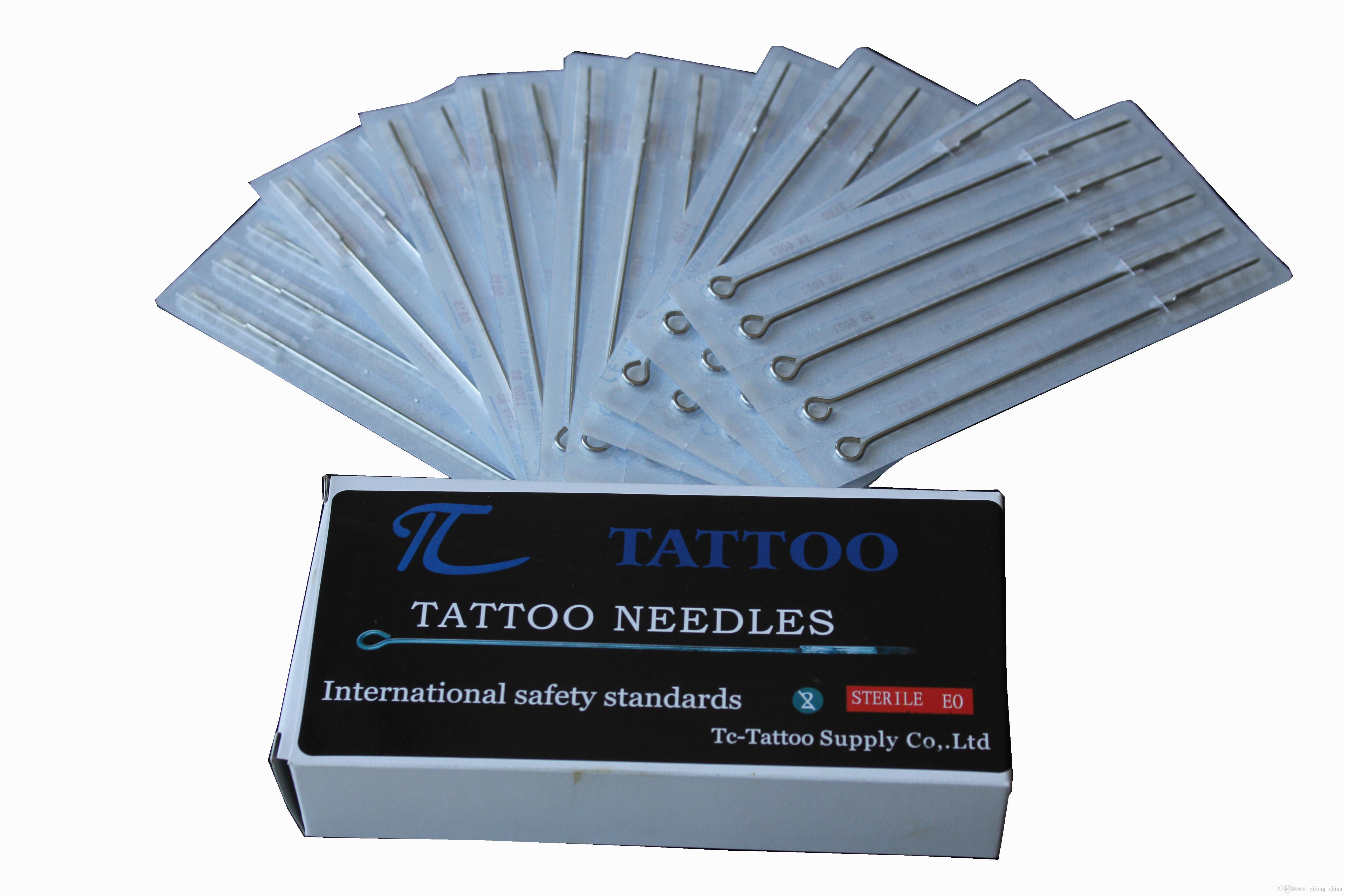Yüksek Kalite Rahat Yeni 50 ADET 3RL Profesyonel Dövme Makinesi Paslanmaz Çelik Steril Tek Kullanımlık Dövme İğne