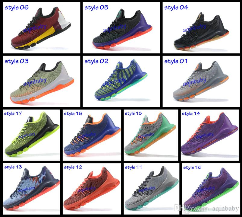 07a63d003e5b 2015 Kevin Durant KD 8 Basketball Shoes V8 Bright Crimson With Tick KD8  Sports Shoes Discount Leather Men Basketball Sneakers Best Price Kids  Basketball ...