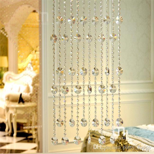 DIY Craft Pearl Wedding Decoration Acrylic Octagon Bead Diamond Beads Beads Garland Chandelier Hanging Wedding Party Décor Genuine Pearl Flo