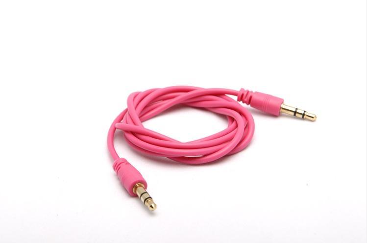 1 M / 3FT 3,5mm Jack Hilfs Kabel Stecker auf Stecker Stereo AUX Audio Kabel für PC telefon Laptop DVD MP3 Auto 50 teile / los