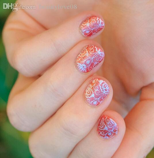 Wholesale new lace nail art design rectangular bc stamping plates wholesale new lace nail art design rectangular bc stamping plates lace blossom stamping image plates manicure diy nail art kits nail art stencils from prinsesfo Gallery