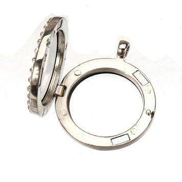 Encantos medalhões pingentes colares de cristal de metal momory ímã vivendo coruja original flutuante branco K slide new diy moda 35 * 30mm