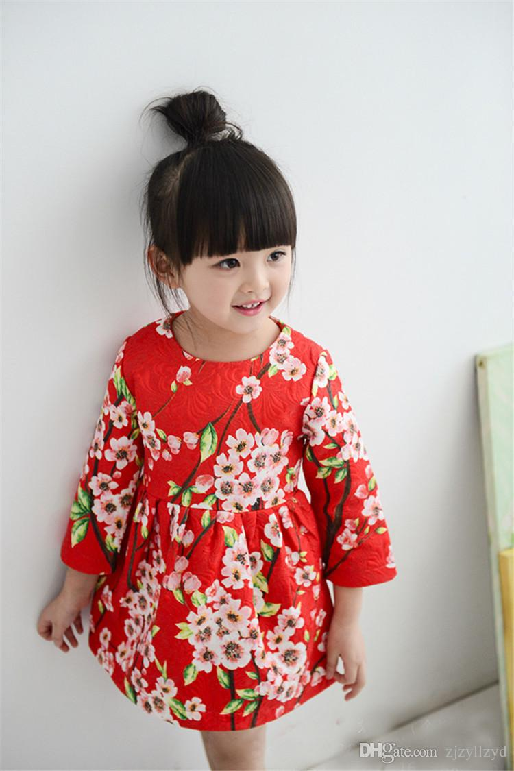 2017 Designer Kids Clothes Baby Toddler Dress Girls Dresses Spring ...