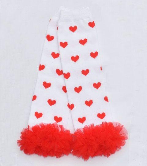 Jour bébé gros Valentin en mousseline de soie volants Jambières infantile garçon garçon jambe jambière Love Leggings coeur es / peut mélanger la couleur