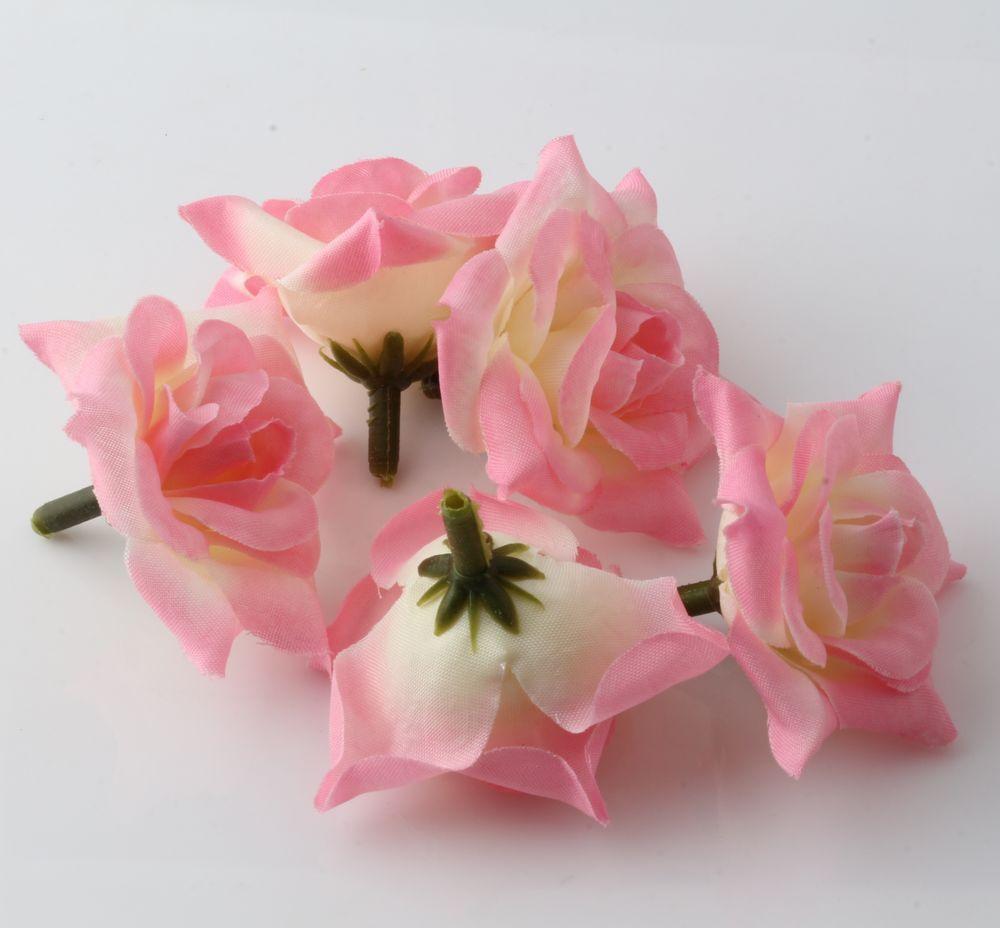 الحار ! 100 قطع الوردي العقص روز زهرة رئيس الزفاف الحرير زهرة الديكور زهرة الكرة زهرة ترتيب