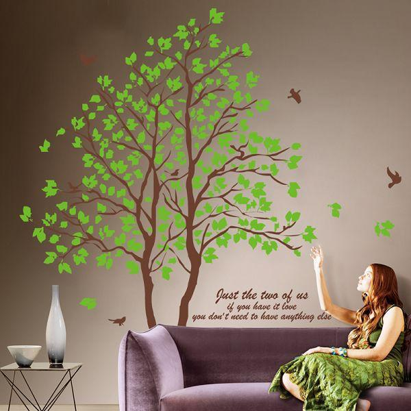 Large 3d Removable Dining Room Wall Stickers Home Furnishing Decorative Wall  Stickers Green Trees Wall Decor Vinyl Wall Decoration Decals From  Yyd942017, ...