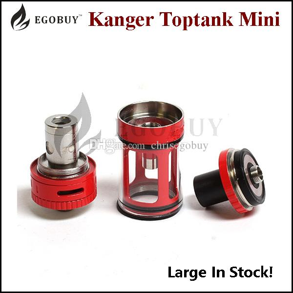 100% Original Kanger Toptank Mini Atomizer 4.0ml Sub Ohm Tank with Delrin Drip Tip replacement ssocc occ vertical coil tanks kbox 75w