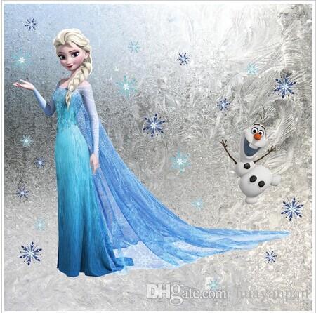 Frozen Wall Art queen elsa frozen wall stickers olaf decorative wall decal cartoon